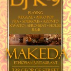 Dj K9 live at Makeda's in New Brunswick